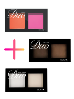 Nicka K New York Duo – Set Blush – Contour – Highligher