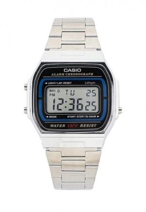 CASIO Collection – A-164WA-1VES, Silver case with Stainless Steel Bracelet