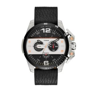DIESEL Ironside – DZ4361 Black case, with Black Leather Strap