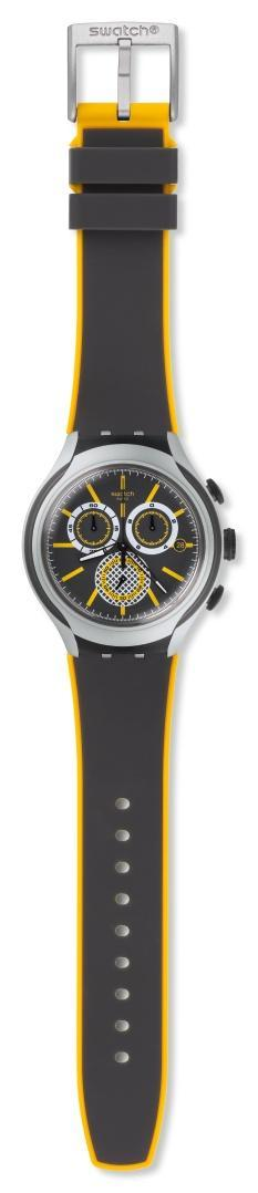SWATCH Bee Droid – YYS4008 Silver Grey case, with Black Rubber Strap