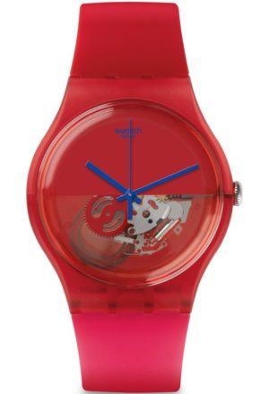 SWATCH Dipred – SUOR103 Red case with Red Rubber Strap
