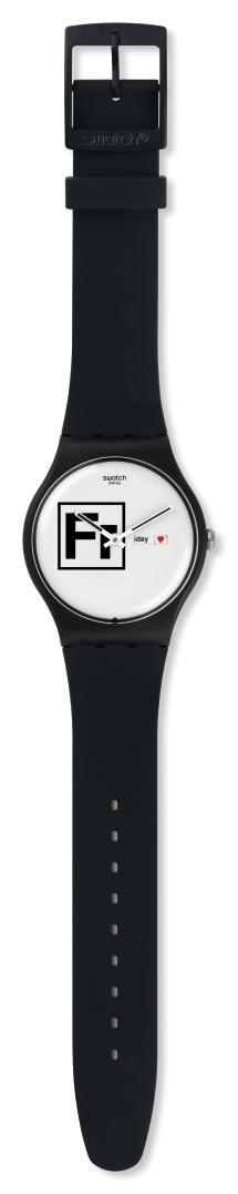SWATCH Fritz – SUOB722 Black case, with Black Rubber Strap