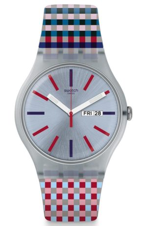 SWATCH Merenda – SUOW709 Gray case with Multicolor Rubber Strap
