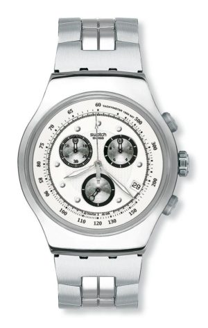SWATCH Wealthy Star – YOS401G Silver case, with Stainless Steel Bracelet