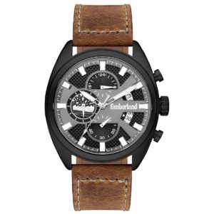 TIMBERLAND SEABROOK – TBL15640JLB/61, Black case with Brown Leather Strap