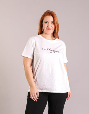 T-Shirt With Love σε Βαμβάκι, Plus Size