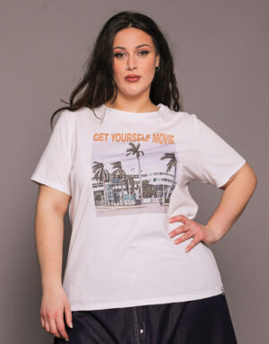 T-Shirt GET YOURSELF MOVIE, Plus Size