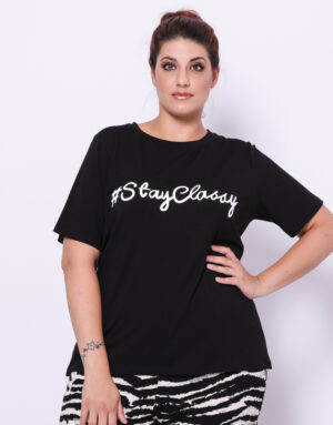 T-Shirt Stay Classy, Plus Size